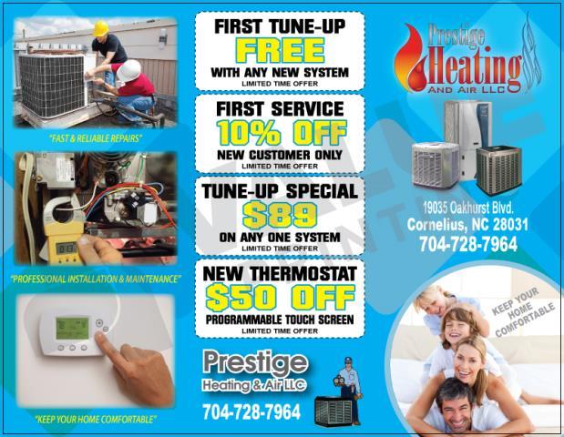 Cornelius, NC - Designed HVAC Brochures for Prestige Heating