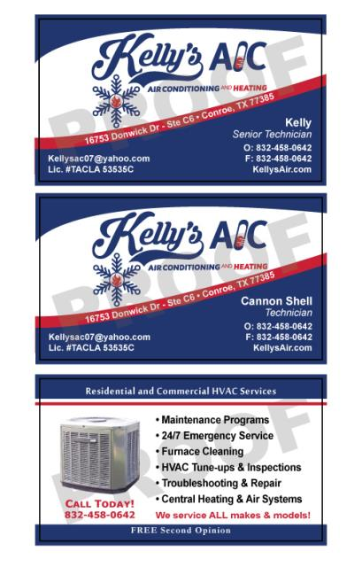 Real time service area for value printing spring tx kellys ac reordered more hvac business cards reheart Images