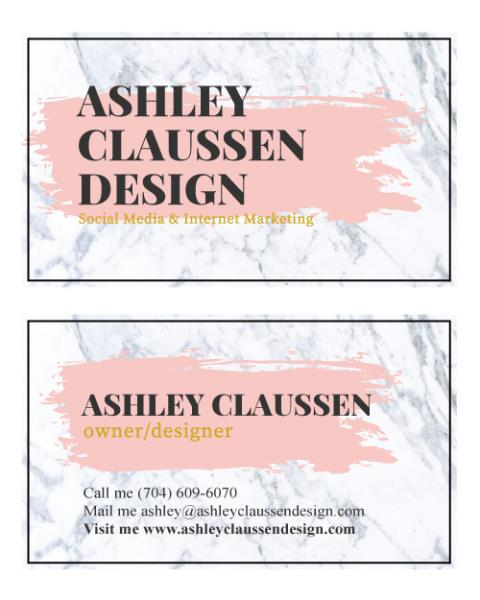 Raleigh, NC - Wow, love the design for Ashley Clasussen Design business cards.  Ashley really likes them too!