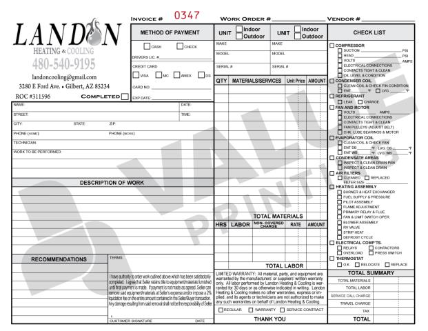 Gilbert, AZ - Adding your logo to our carbonless forms is a cinch!