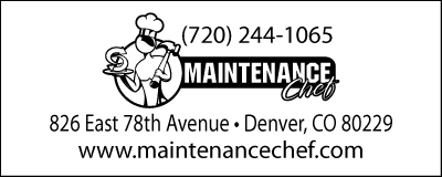 Denver, CO - Long time customer, Maintenance Chef, usually orders business cards, carbonless form, or stickers from us but we also provide them with design and self-inking stamps.