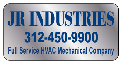 Chicago, IL - Finding just the right service sticker for your business is important.  See these brushed chrome stickers design we did for JR Industries, and HVAC Contractor.  They are durable and long-lasting.