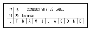 Apex, NC - TSI Fire & Safety needs our design for 250 of these Custom Conductivity Test Label, 500 Custom Service Stickers, and 2000 Custom Hydrostatic Test Stickers. We are happy to help!
