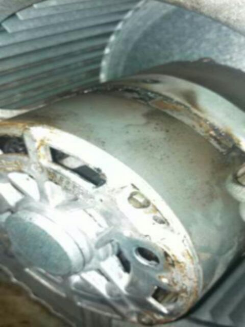 Griffin, GA - Blower motor caught fire. Ruud Furnace. Recommend replacement furnace due to age and condition.