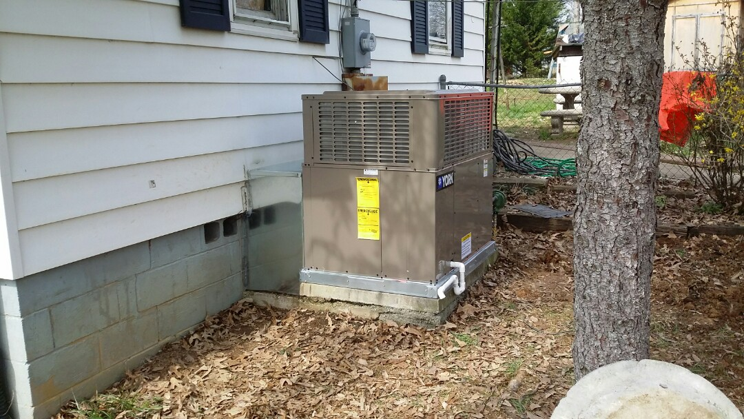 Installed York 2 Ton Gas Package unit in Knoxville.