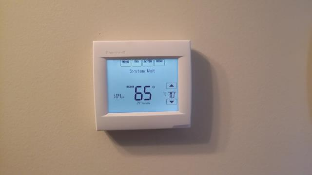 Replaced Honeywell thermostat on a York 3 Ton Dual Fuel package unit in Seymour
