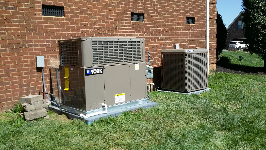Installed York Gas Package unit and heat pump System today in Seymour.