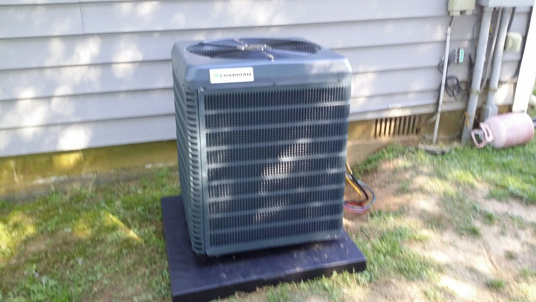 Installed Guardian 3 Ton 14 Seer AC with 95% Gas Furnace in Seymour.