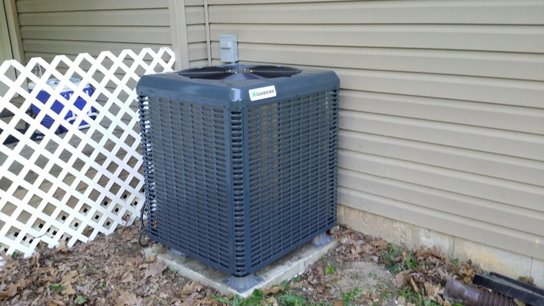 Knoxville, TN - Installed Guardian 3 Ton 14 Seer Heat pump System in Knoxville.