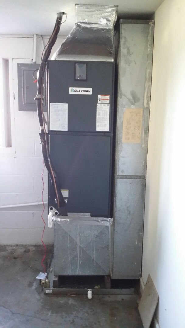 Installed new Guardian 3 Ton Heat Pump System in Seymour today. Another satisfied customer!