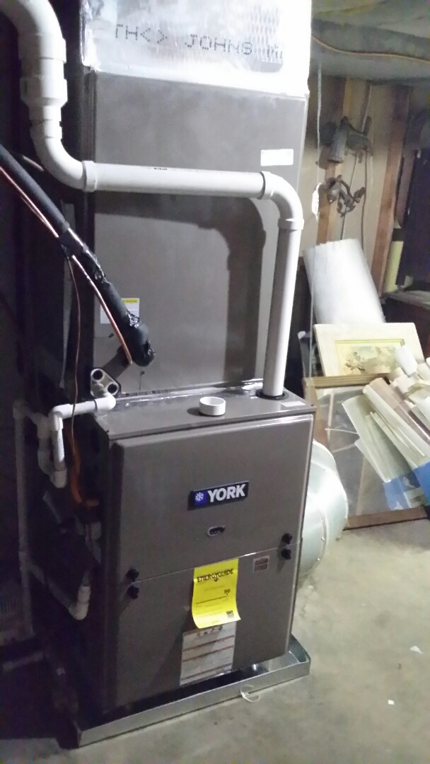 Installed York 5 Ton 14 Seer Dual Fuel system in Seymour.  For a long time  customer.