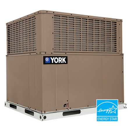 Installed York 3 Ton 16 Seer Heat Pump Package Unit in Seymour.