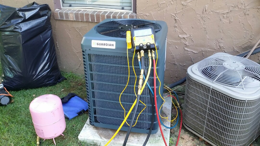 Louisville, TN - Installed new Guardian 1.5 Ton 14 Seer AC with Gas Furnace in Louisville today.