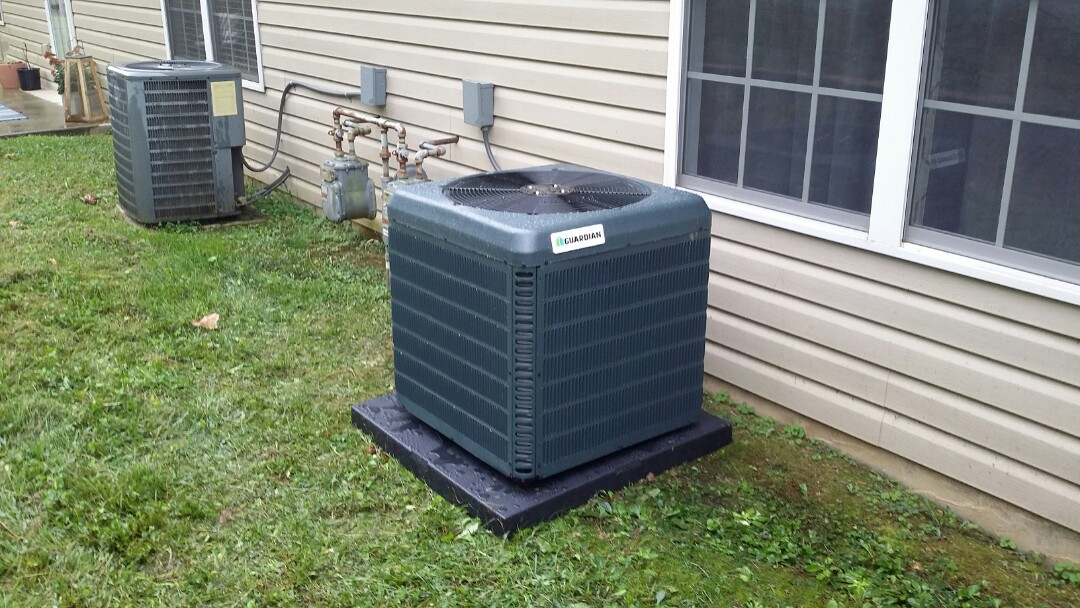 Installed new Guardian AC 2 Ton with Evap coil in the attic in Knoxville.