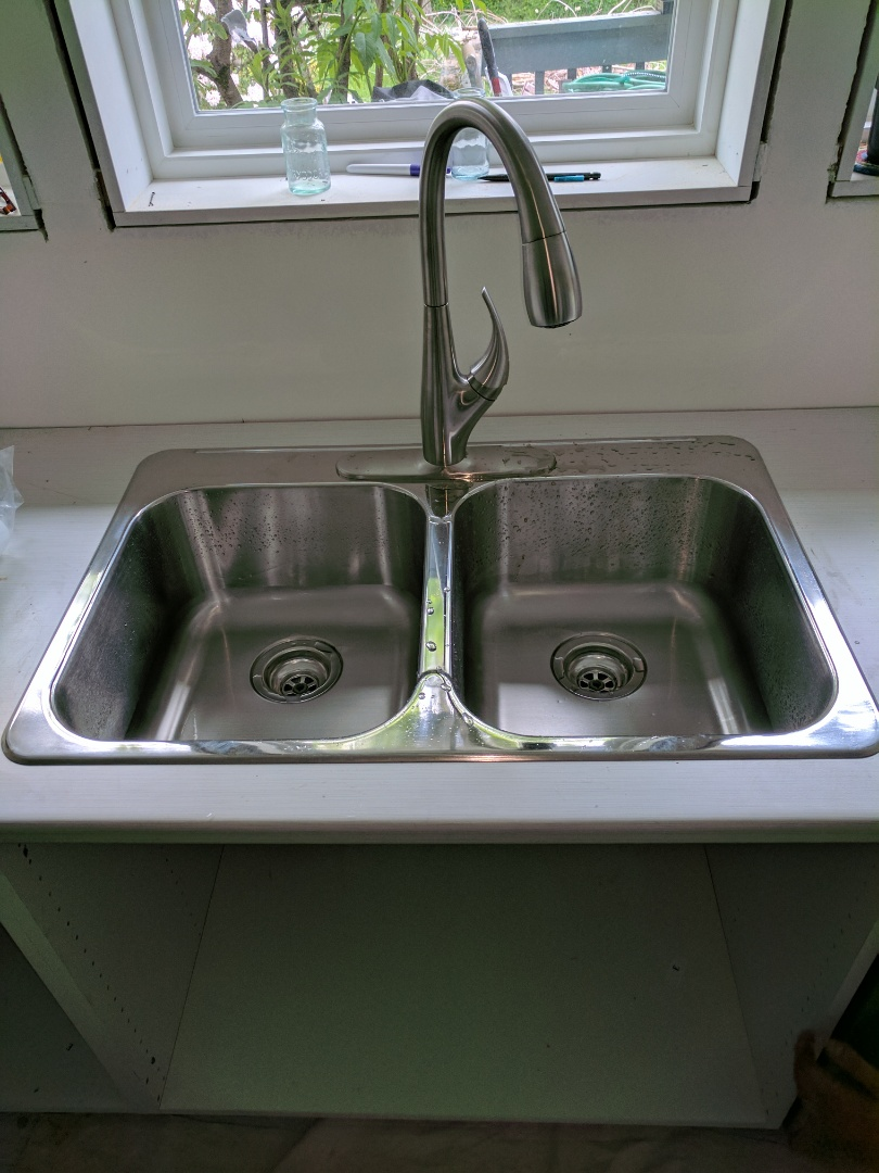 Victoria, BC - Installed kitchen sink and faucet in kitchen Reno for customer in Saanich, BC.