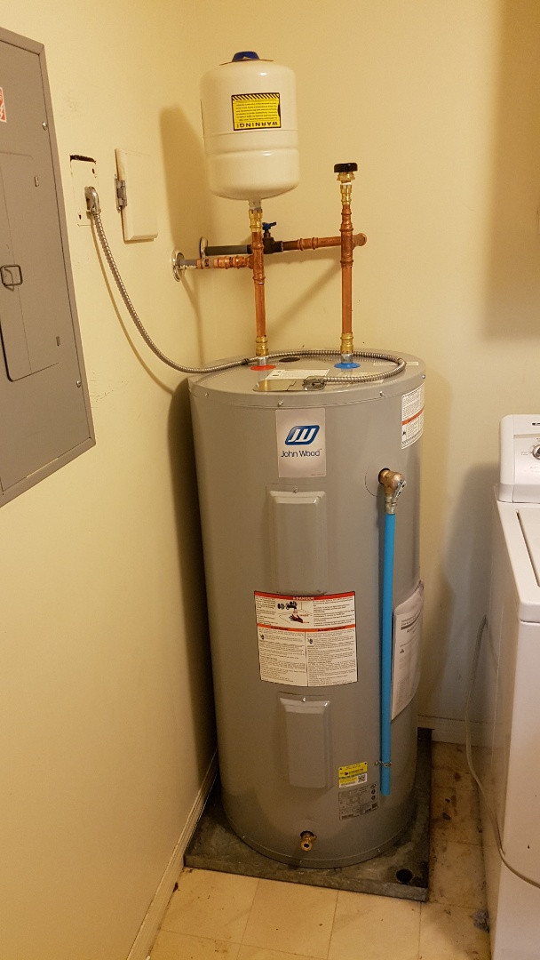 Victoria, BC - Install 40 gal electric hot water tank and thermal expansion tank in condo in arbutus area