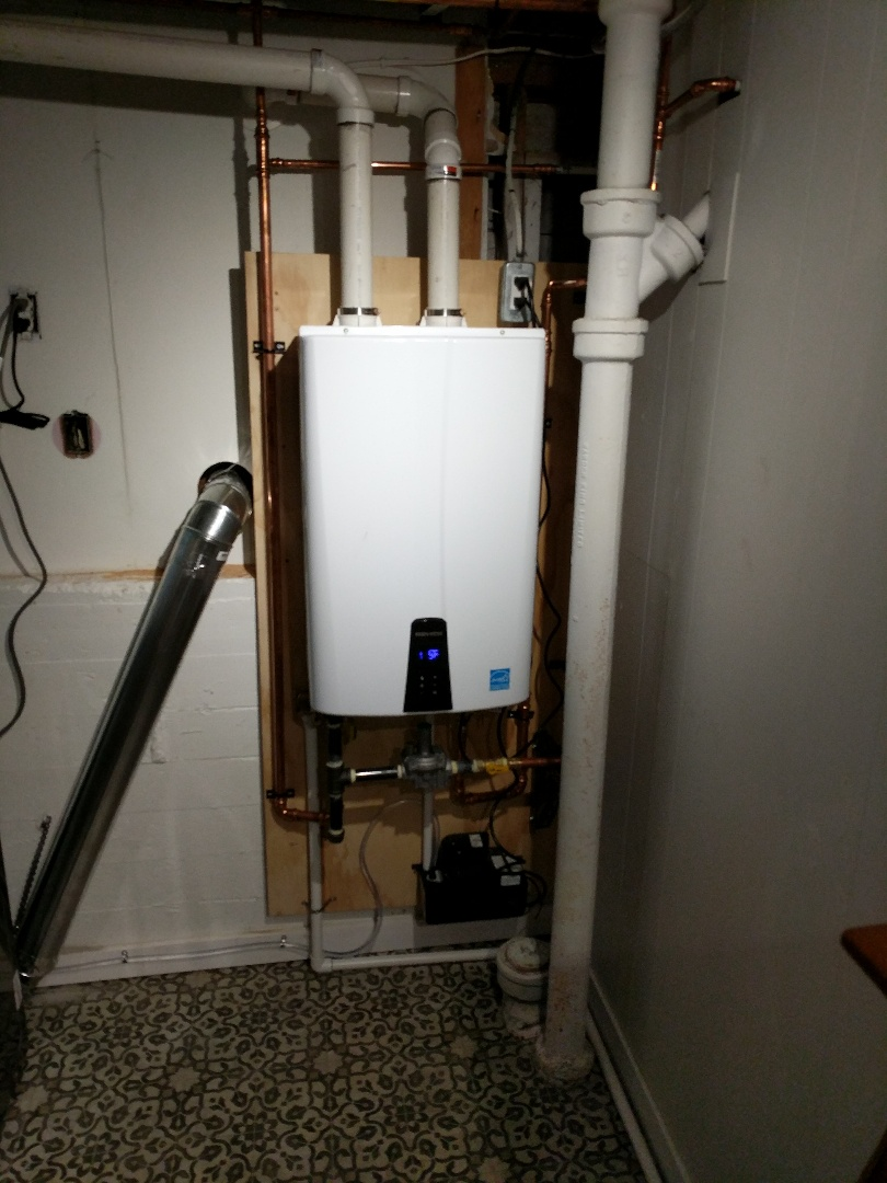 Victoria, BC - Navien on demand water heater installation for home owner in Oak Bay