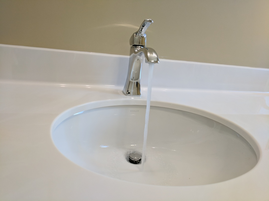 Victoria, BC - Installing Vanity sink and faucet for homeowner in Tillicum area