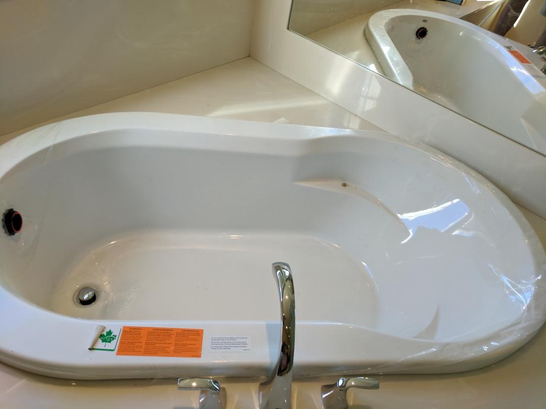 Saanichton, BC - Installing hytec drop in bathtub for client in Saanichton
