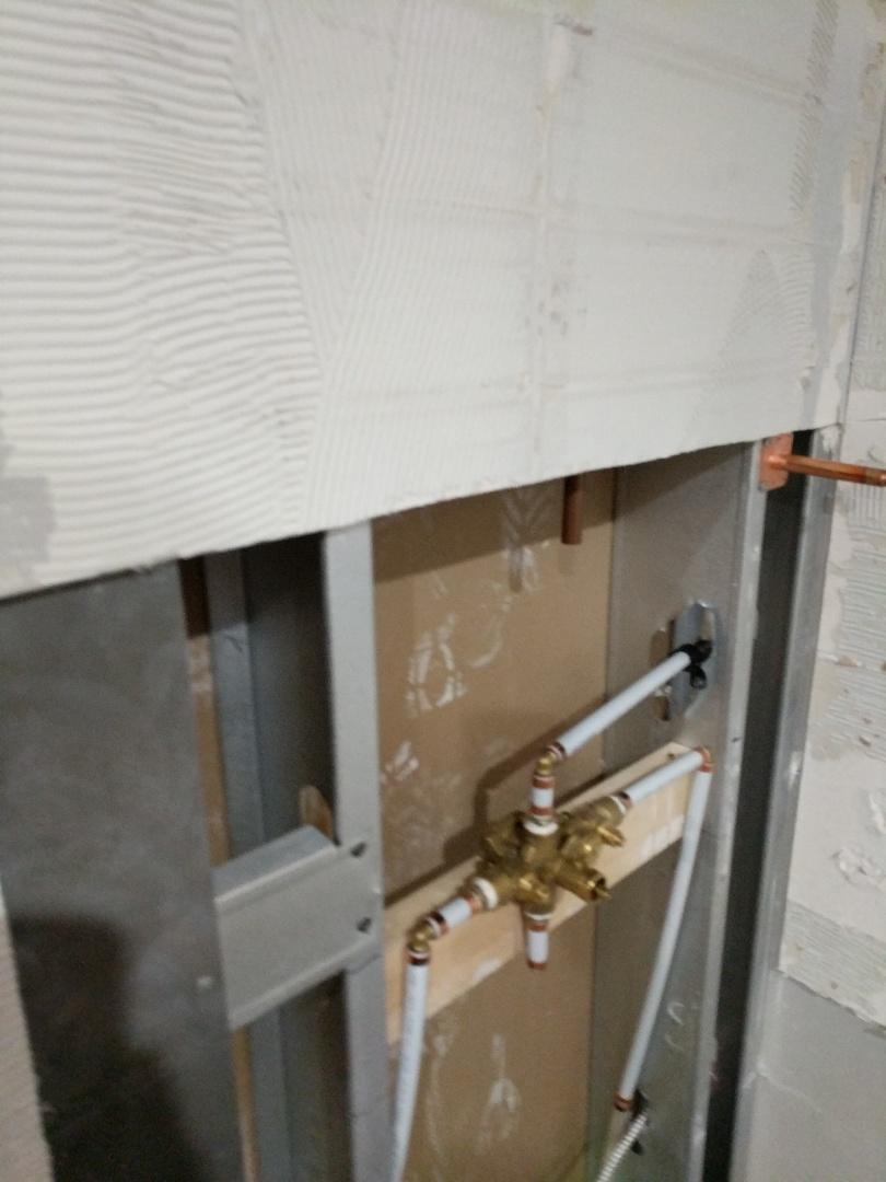 Victoria, BC - Installing Moen shower valve for shower Reno in Victoria