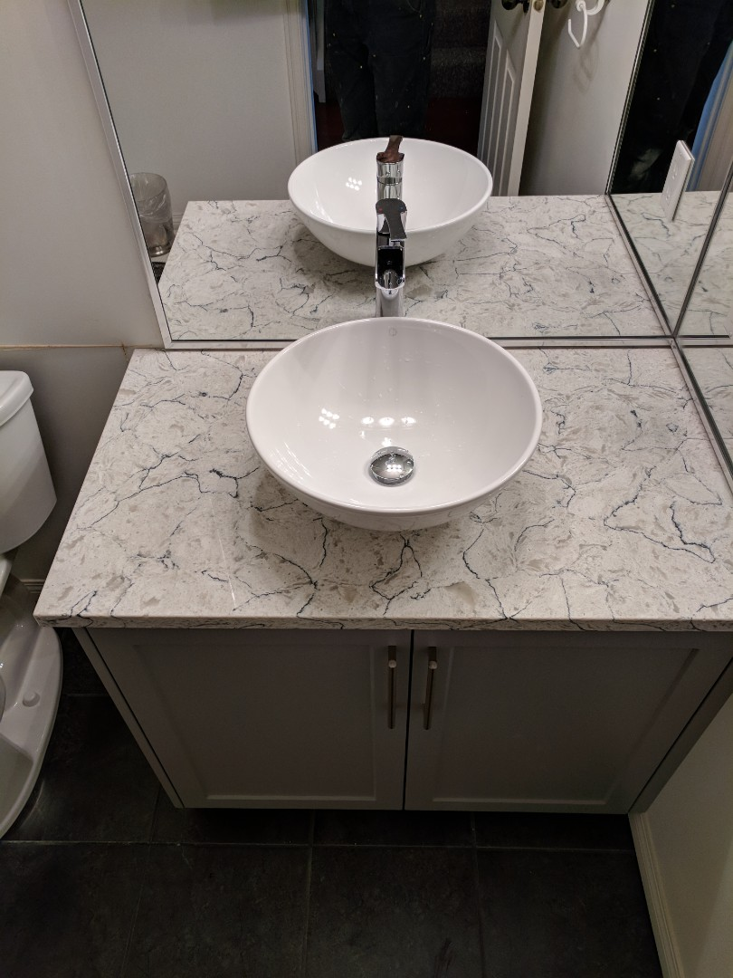 Sidney, BC - Installation of a vessel sink for customer in Sidney BC