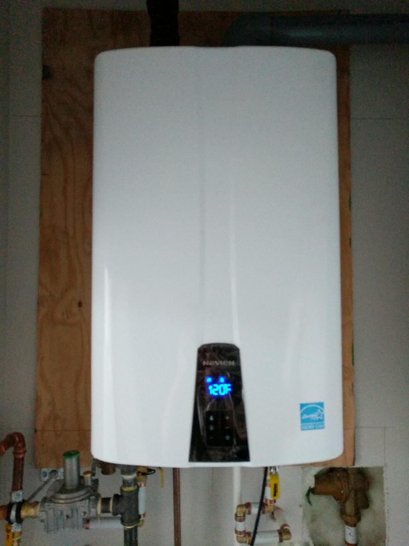 Sidney, BC - Install Navien on-demand water heater for customer in Sidney BC