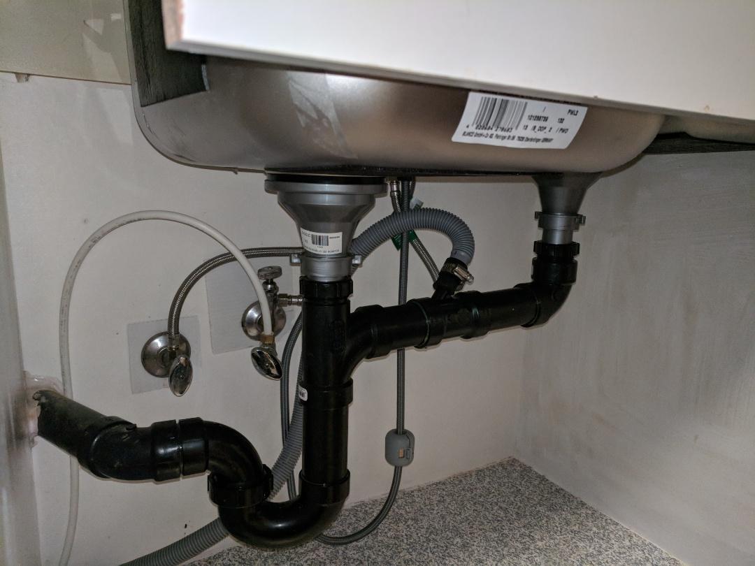 Victoria, BC - Installing kitchen sink for customer in Gordon Head