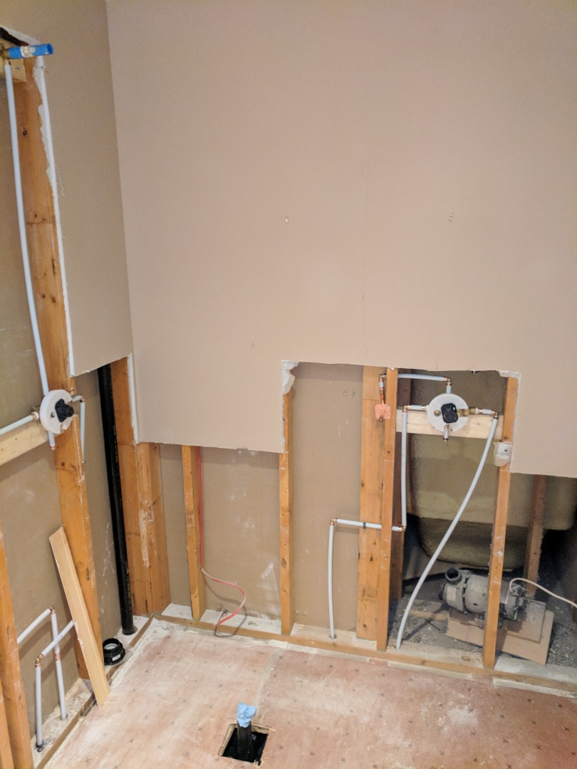 Victoria, BC - Rough-in of custom shower for Homeowner in Saanich
