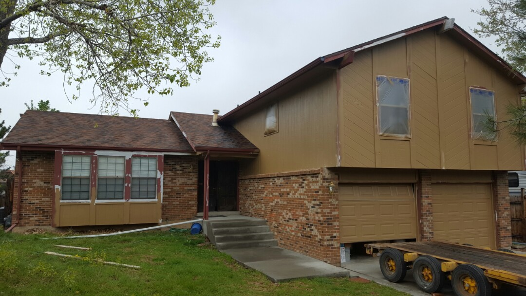Littleton, CO - Great progress on some exterior painting done with Sherwin Williams Exterior Super Paint. Let us help protect one of your biggest investments-your home! Littleton, CO