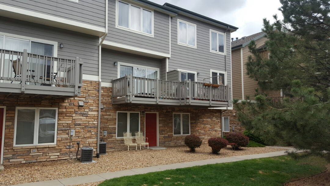 Littleton, CO - Paint and stain deck project for Riverwalk townhome community. Littleton, CO