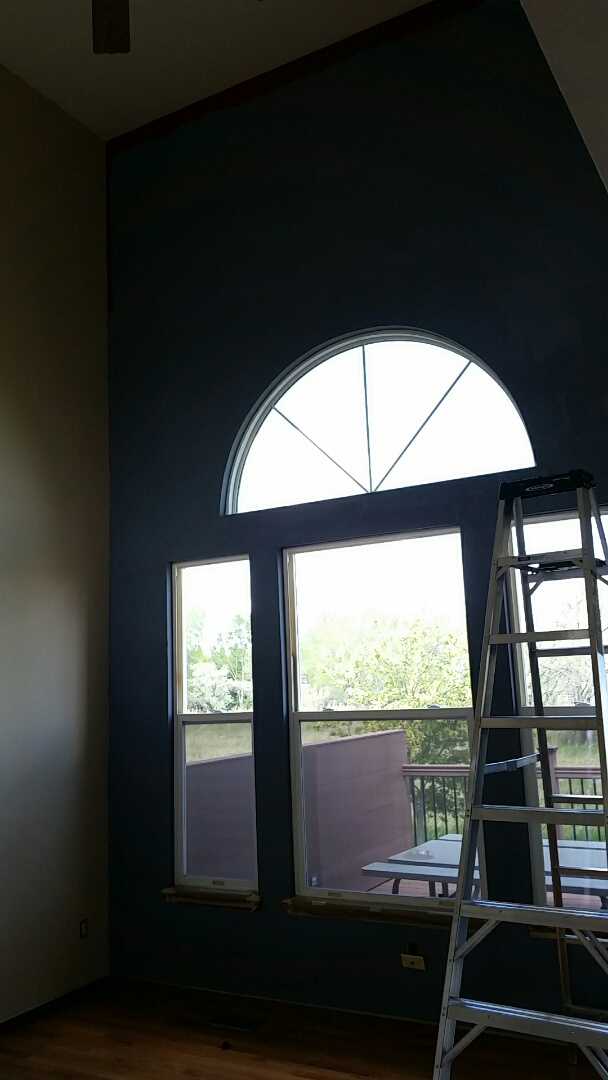 Arvada, CO - Taking this Arvada interior to the next level with Sherwin Williams interior super paint!