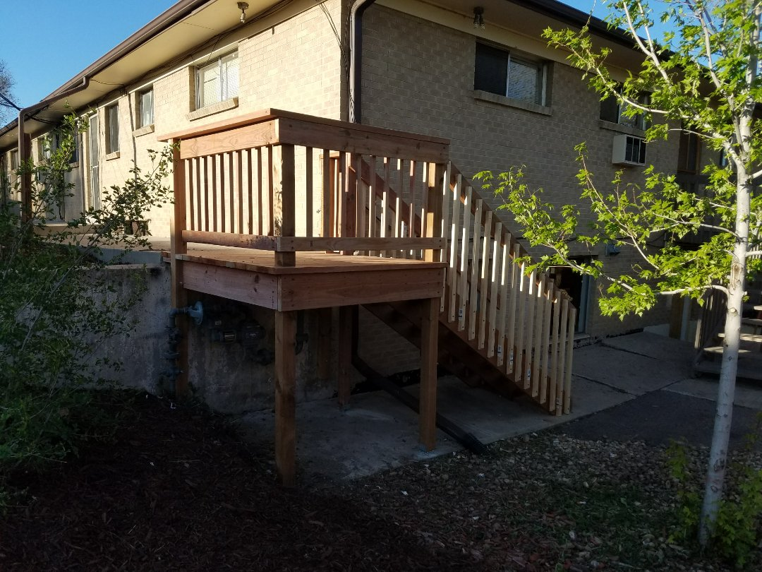 Lakewood, CO - Eberone at Colorado Commercial and Residential Painting participated in the AAMD charity clean-day today.  Lots of cleaning, painting, fence stain and construction, including a new deck and stairs.