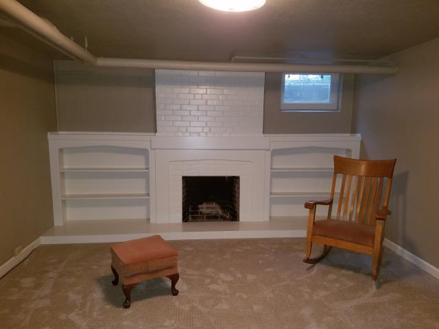 Denver, CO - An adorable basement remodel and redecorate in this 1937 Montclair home.  Walls and ceiling are painted with Sherwin Williams SuperPaint interior latex.  The fireplace and shelving paint is Sherwin Williams Pro Industrial Waterbased Alkyd Urethane for a rock hard and ultra durable finish.  What a fresh look for this space.
