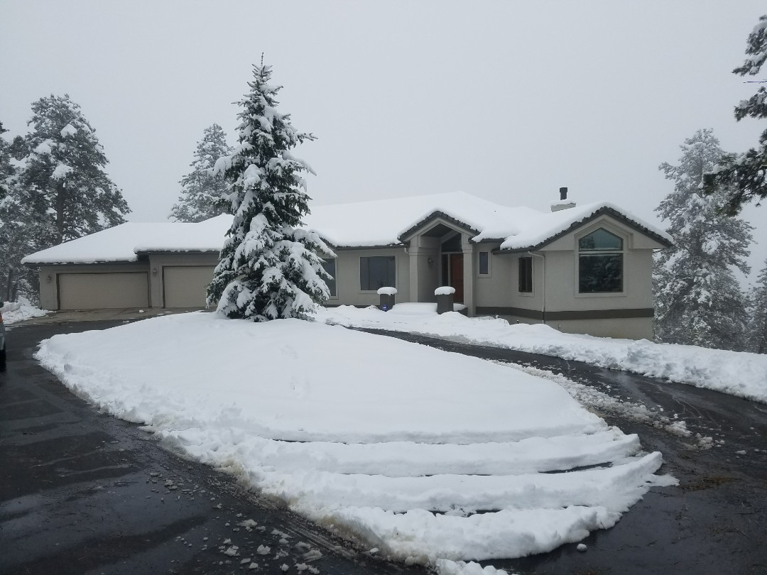 Golden, CO - Preparing an exterior paint estimate for a gorgeous stucco home in Genesee. This project includes elastomeric coatings on the stucco and all windows and doors to be painted with Sherwin-Williams Super Paint.  Of course, will need the snow to melt.