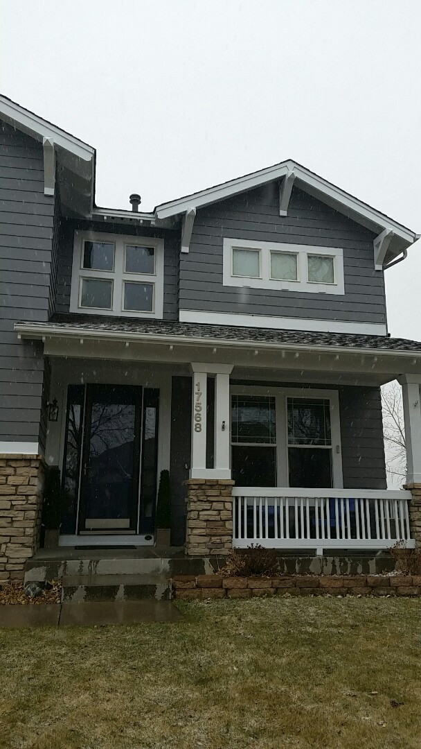 Golden, CO - Exterior residential painting in golden Colorado is complete and looks phenomenal! Sherwin Williams Super Paint seal grey and Crystal white really make each other pop! Snack Amazing job to my foreman Abdi!