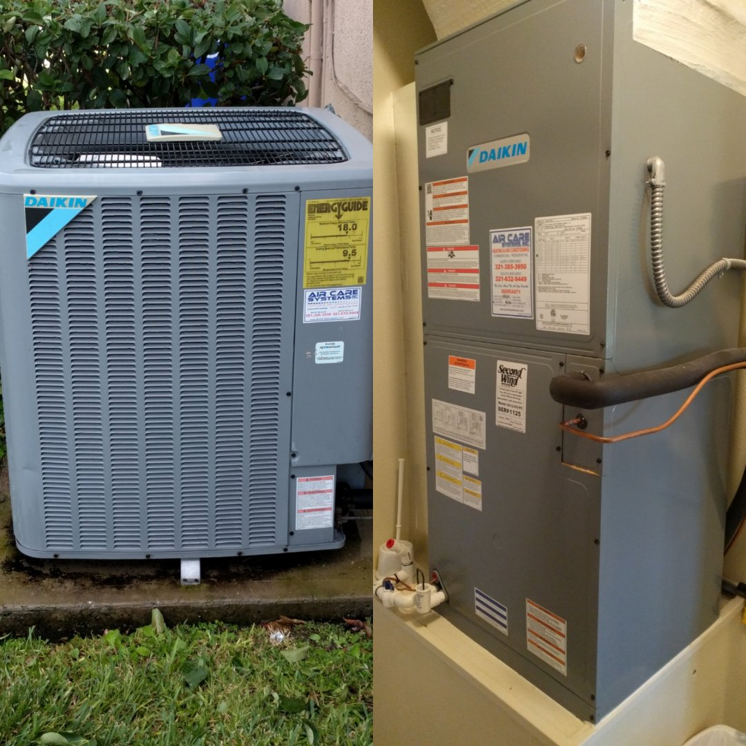 Rockledge, FL - Finishing maintenance on a Daikin heat pump for a existing customer.