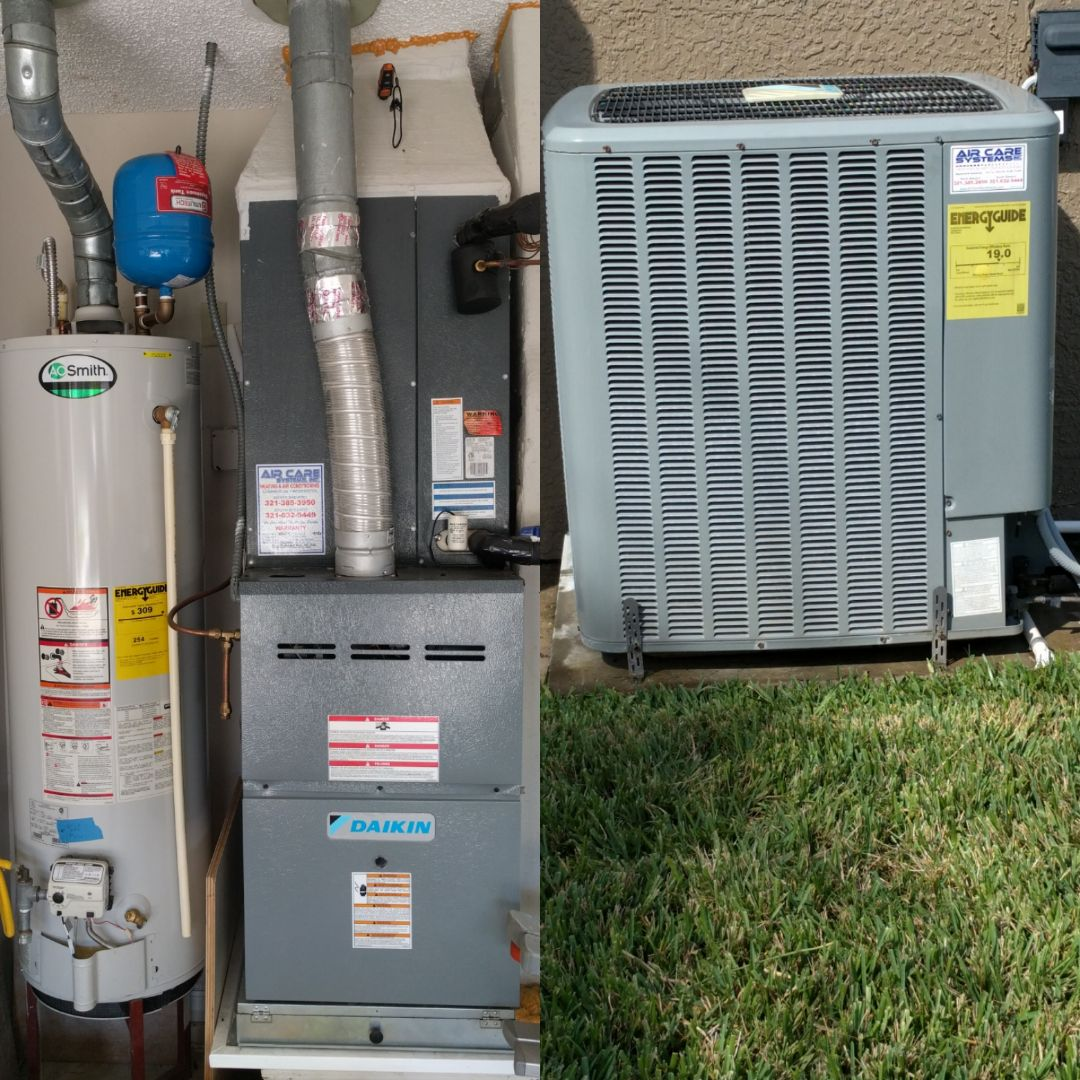Melbourne, FL - Finishing maintenance on a newer Daikin gas furnace for existing customer.