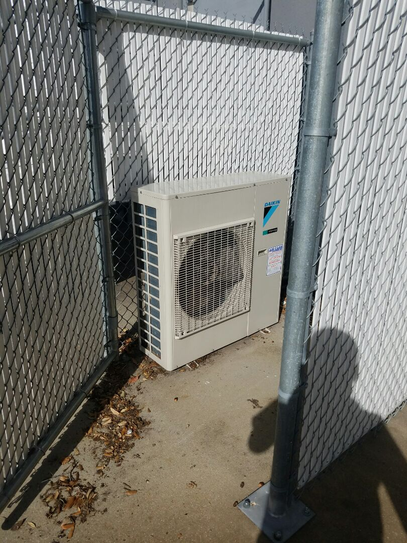Orlando, FL - Performing planned maintenance on a Daikin ductless mini split.
