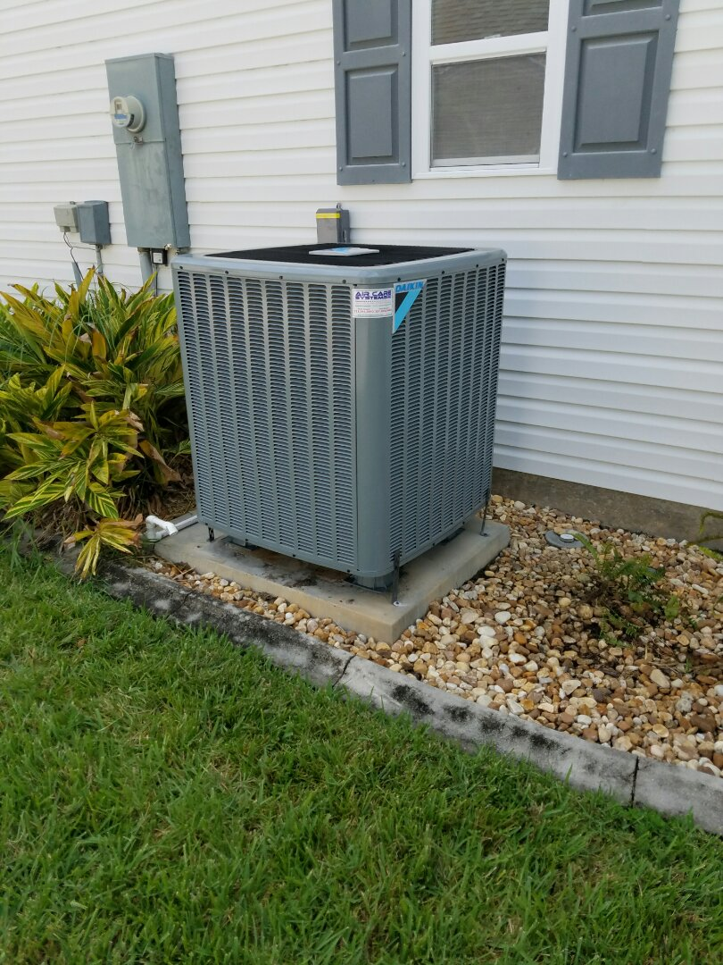 Cocoa, FL - Performing planned maintenance on a Daikin 15seer heat pump