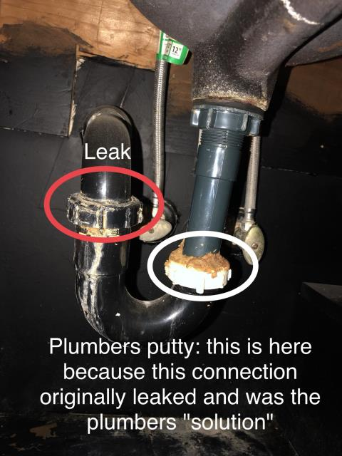 Correct p-trap under bathroom sink