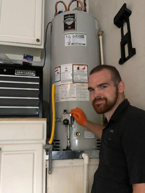 Replaced Whirlpool Water Heater with Bradford White Water Heater for customer in Spring.