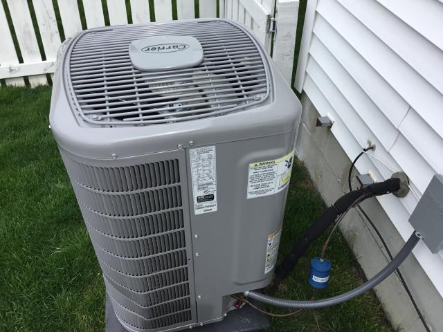 New Albany, OH - AC tune up and check out on brand new Carrier AC