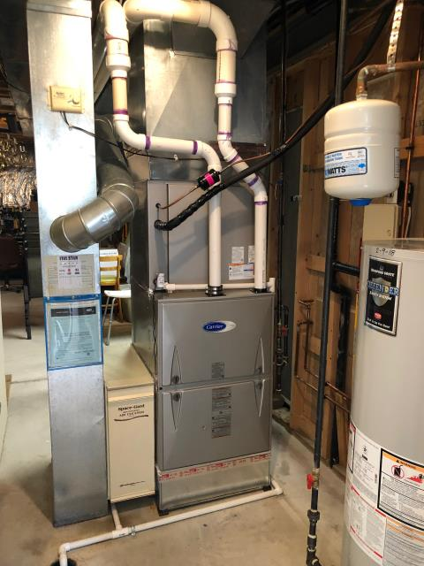 Westerville, OH - Installed a Blue Tube UV Light and Aprilaire 20x25 filter cabinet. Inspected blower speeds and duct work for a 2019 Carrier 96% High Efficiency Gas Furnace and a 2019 Carrier 16 SEER High-Efficiency Air Conditioner.