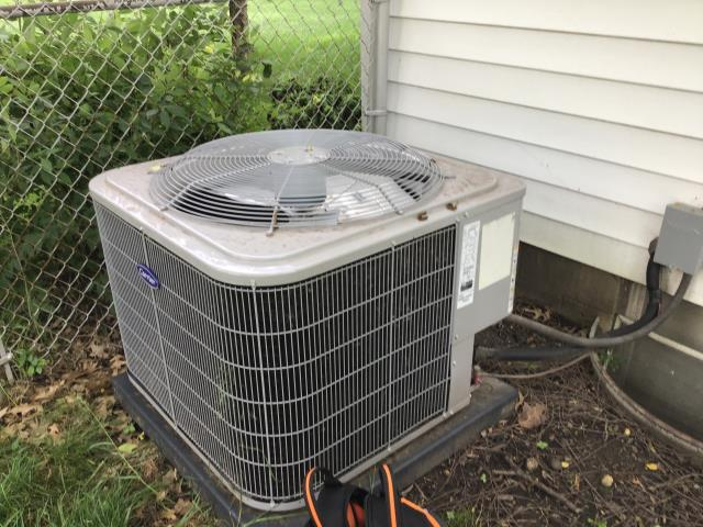 Whitehall, OH - Completed a Spring Tune-Up and Safety Checkout on a 2018 Carrier 16 SEER 3 Ton Air Conditioner as part of an annual service maintenance agreement.