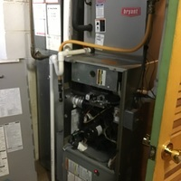 Bexley, OH - Replaced the Dual Capacitor 35+5 on a Bryant cooling system. Also found furnace filter very dirty, customer is going to buy their own 16x25x1.