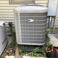 "Alexandria, OH - Spring Season AC Tune-up and Safety checkout performed over a 2018 Carrier ""Infinity Series"" 18 SEER Variable-Speed 4 Ton Heat Pump. System is up and ready to go for the summer season."