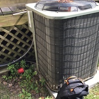 Bexley, OH - Pre-Season AC Tune-up and Safety Checkout completed on a 2006 Payne AC. Unclogged the drain-line and cleaned off the evaporator coil.