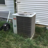 A/C Tune-up and Safety Checkout on Bryant AC unit. Cleaned coil, replaced capacitor.