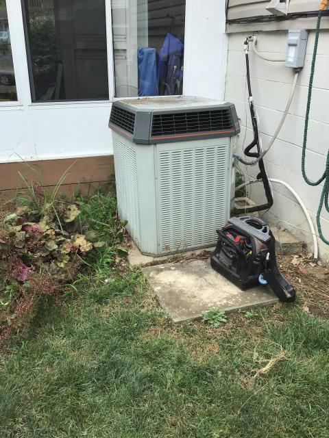 AC Tune-up done on a Trane system. Also, Cleaned the Outdoor Condenser Coil with Eco-friendly cleaner.