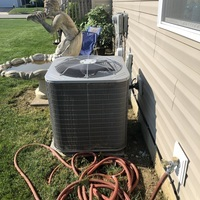 Installed PVC Trap with minor repair on Bryant cooling system to allow the condensate to properly drain.